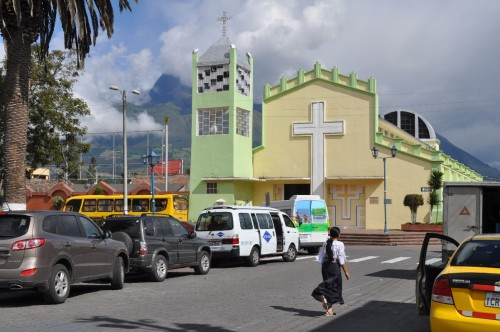 One of at least three Catholic churches in Cotacachi, and the most modern.